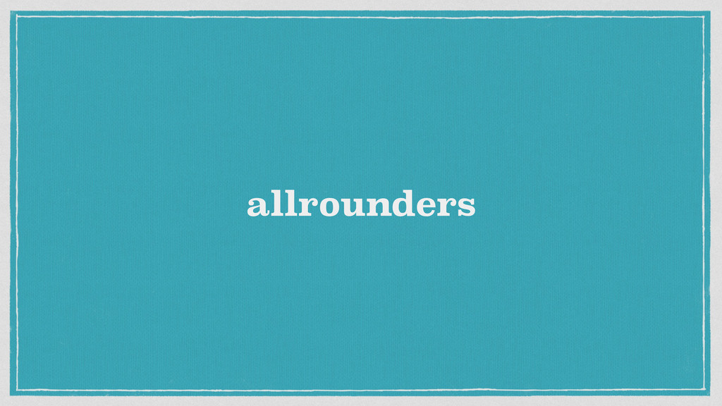 allrounders