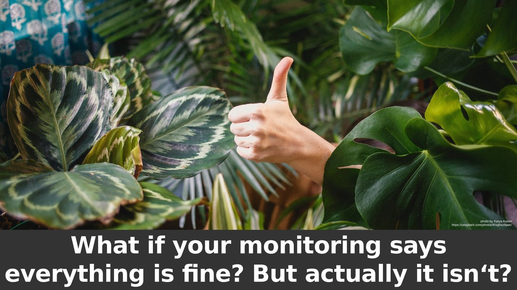 What if your monitoring says everything is fine...