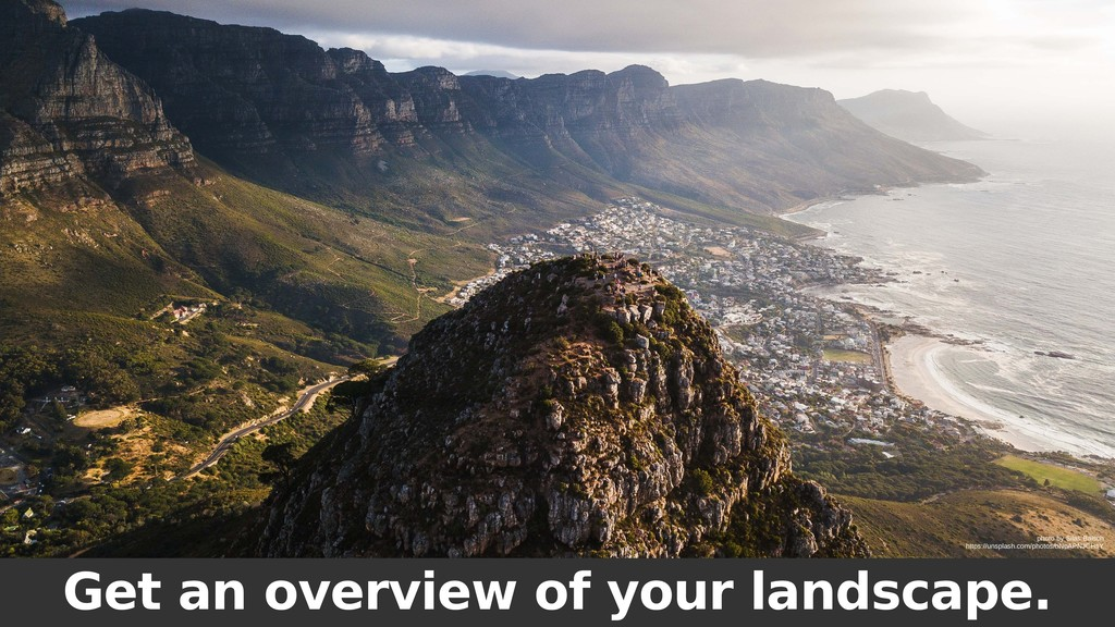 Get an overview of your landscape. photo by Sil...