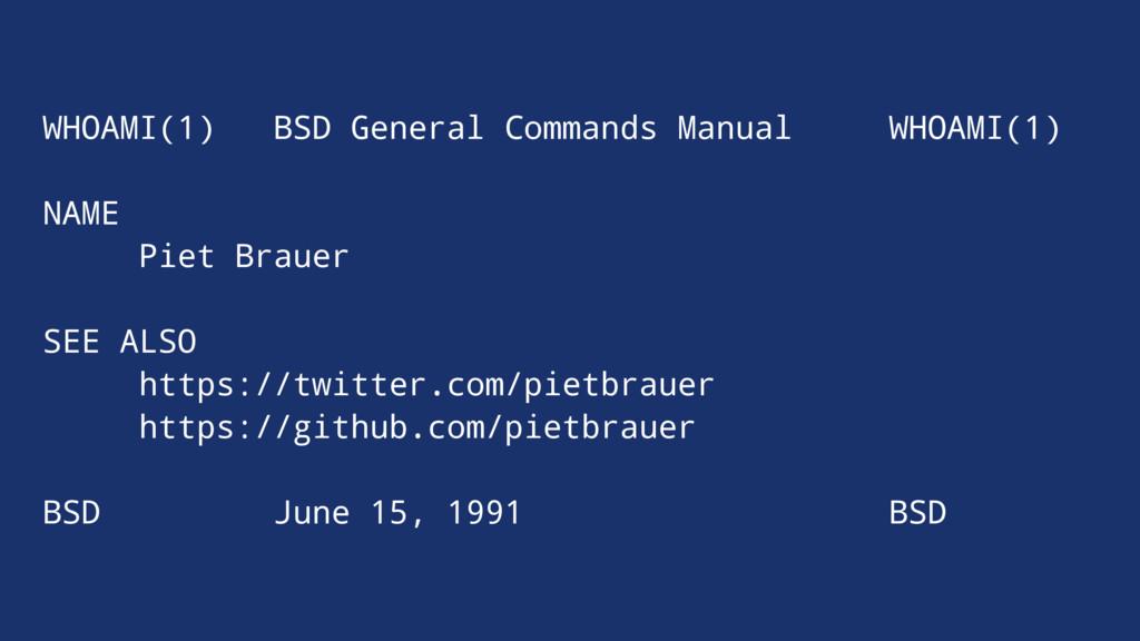WHOAMI(1) BSD General Commands Manual WHOAMI(1)...
