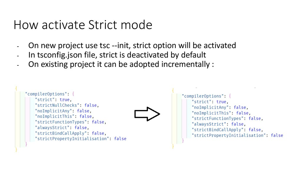 How activate Strict mode - On new project use t...