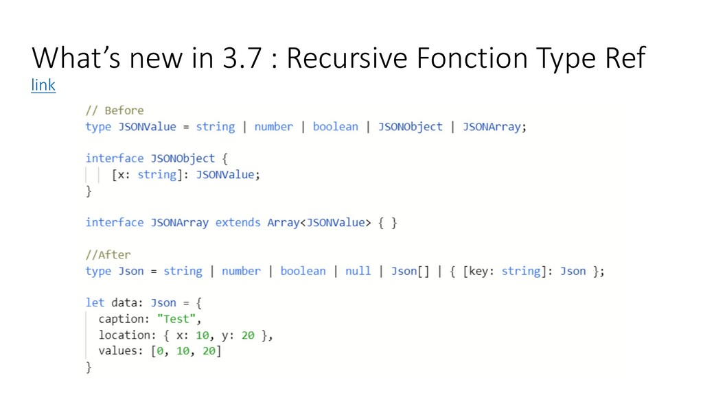 What's new in 3.7 : Recursive Fonction Type Ref...