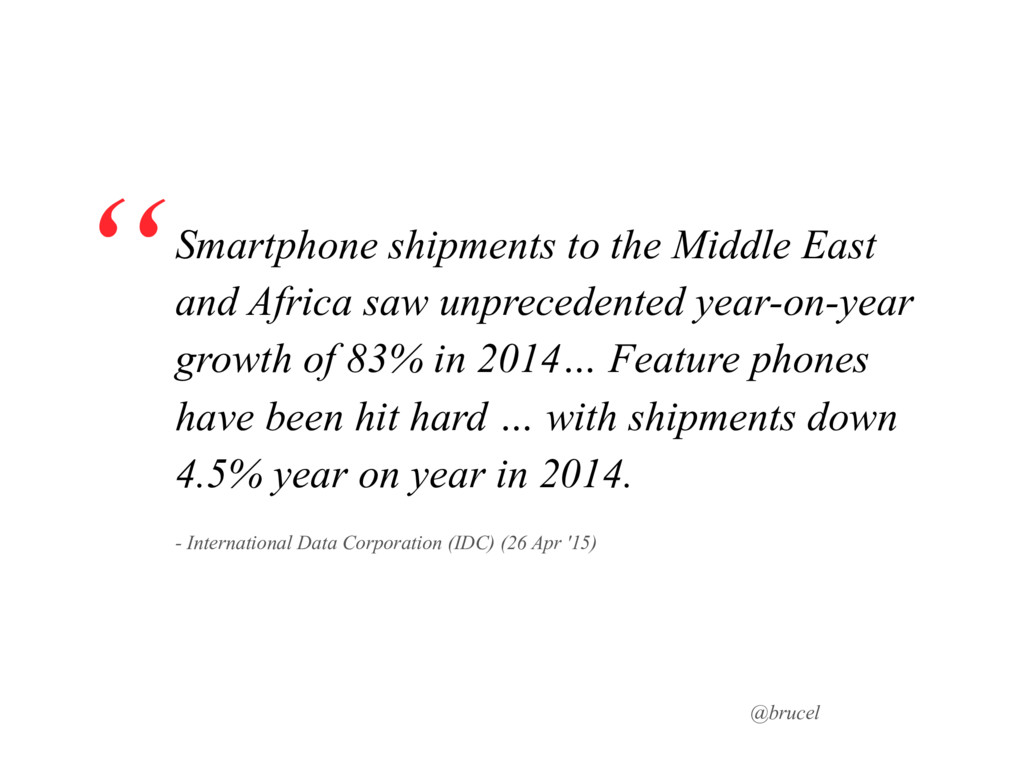 @brucel Smartphone shipments to the Middle East...