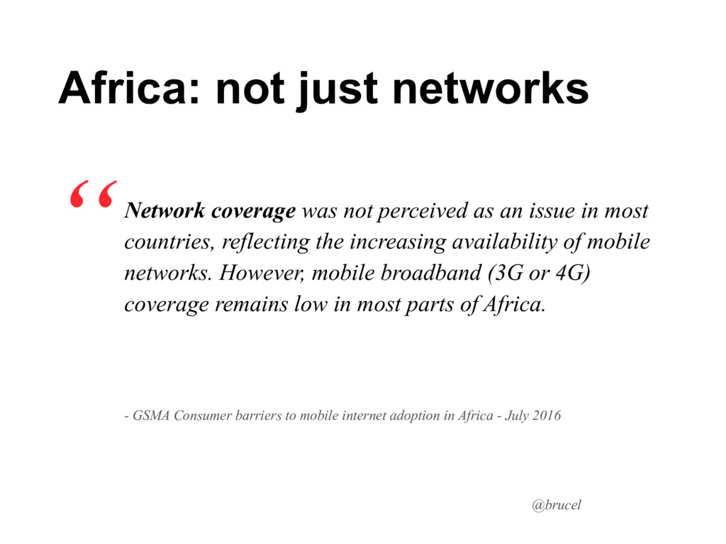 @brucel Network coverage was not perceived as a...