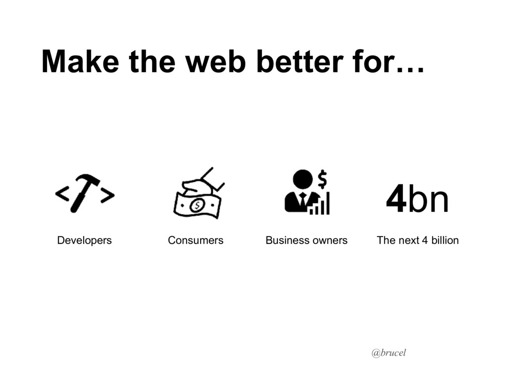 @brucel Make the web better for… Consumers Busi...