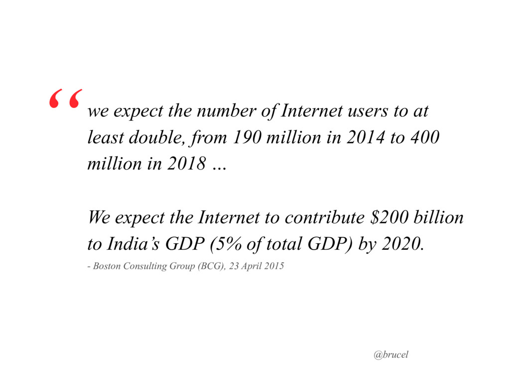@brucel we expect the number of Internet users ...