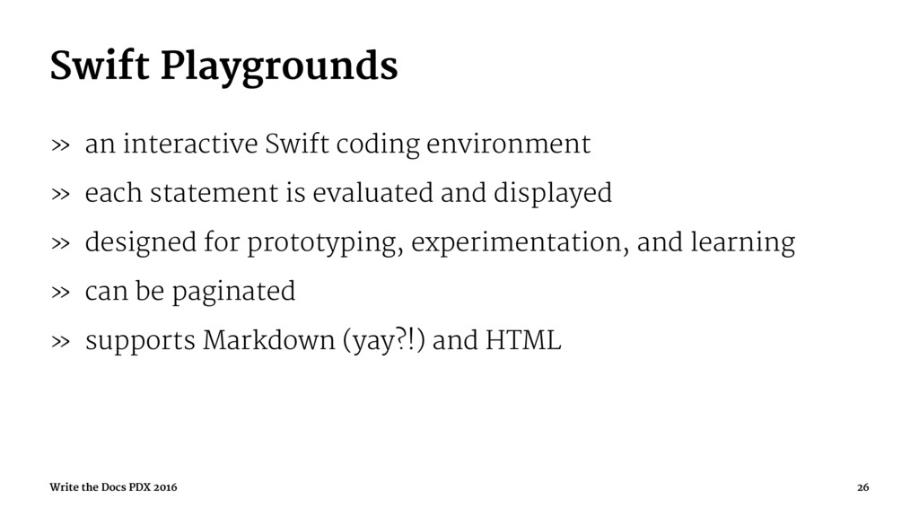 Swift Playgrounds » an interactive Swift coding...