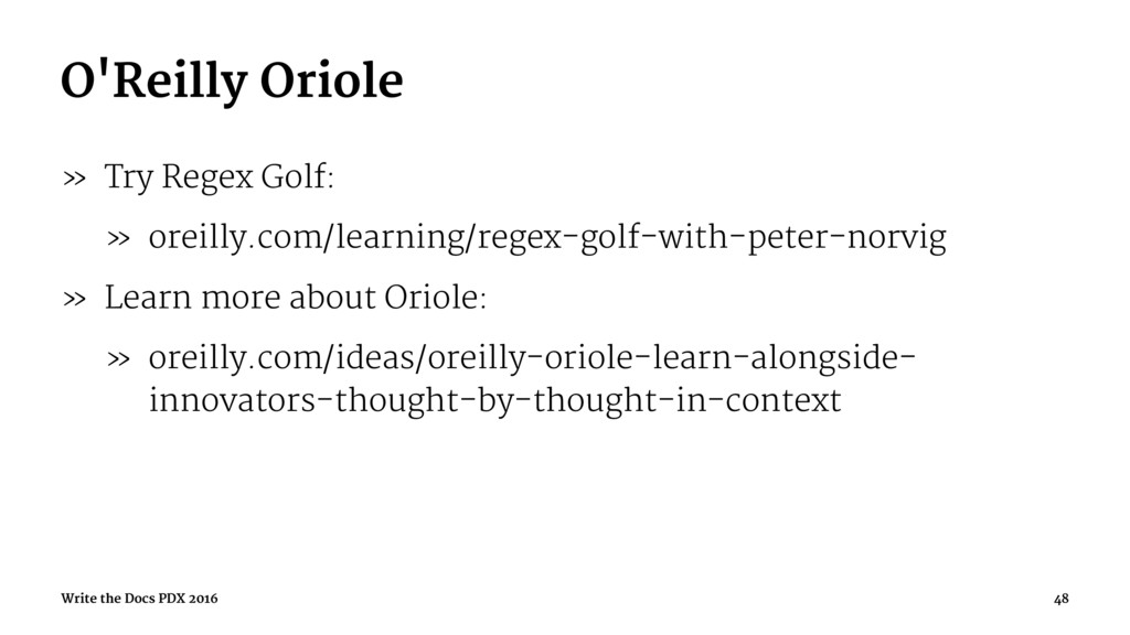 O'Reilly Oriole » Try Regex Golf: » oreilly.com...