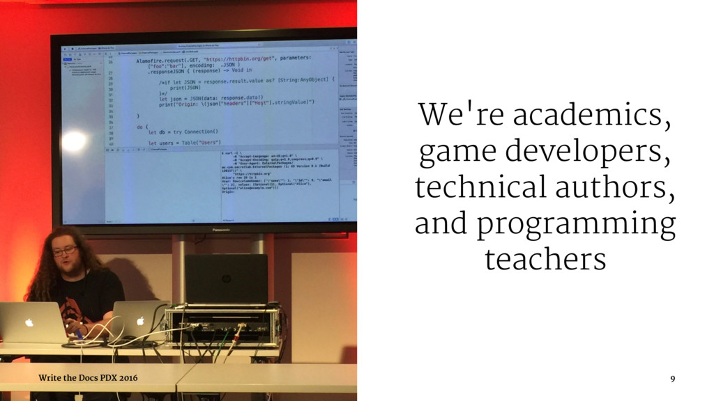 We're academics, game developers, technical aut...