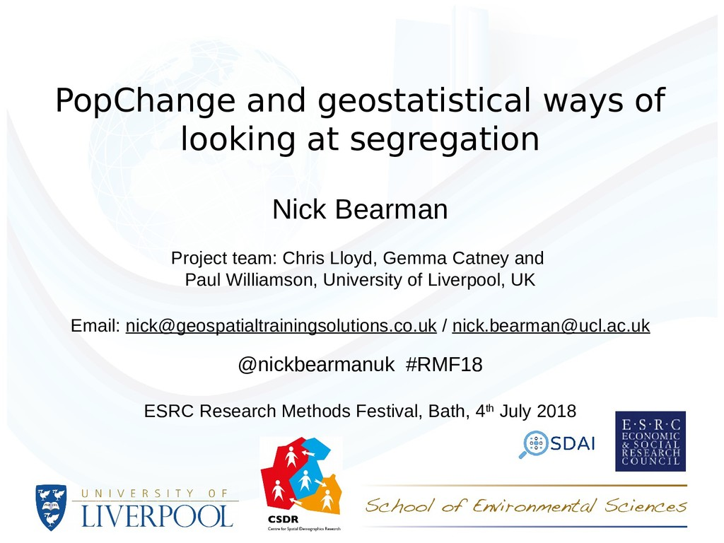 PopChange and geostatistical ways of looking at...