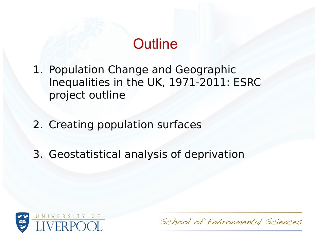 Outline 1. Population Change and Geographic Ine...