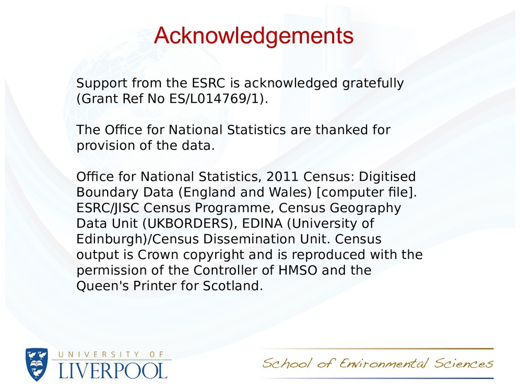 Acknowledgements Support from the ESRC is ackno...