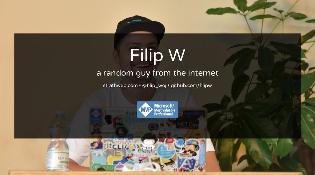 Filip W Filip W a random guy from the internet ...