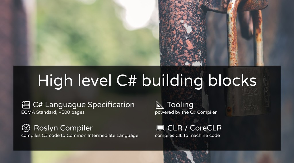 High level C# building blocks High level C# bui...