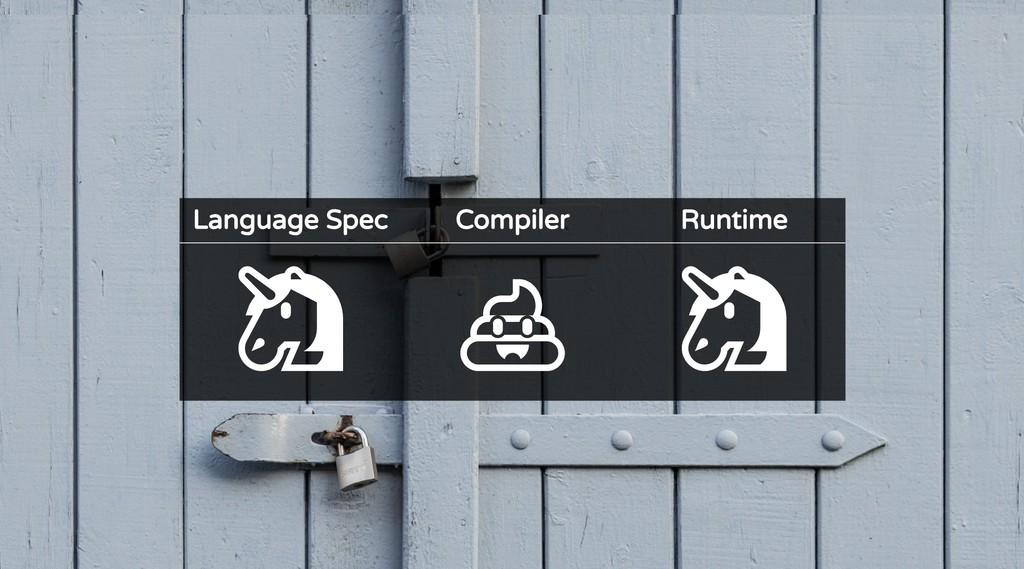 Language Spec Compiler Runtime