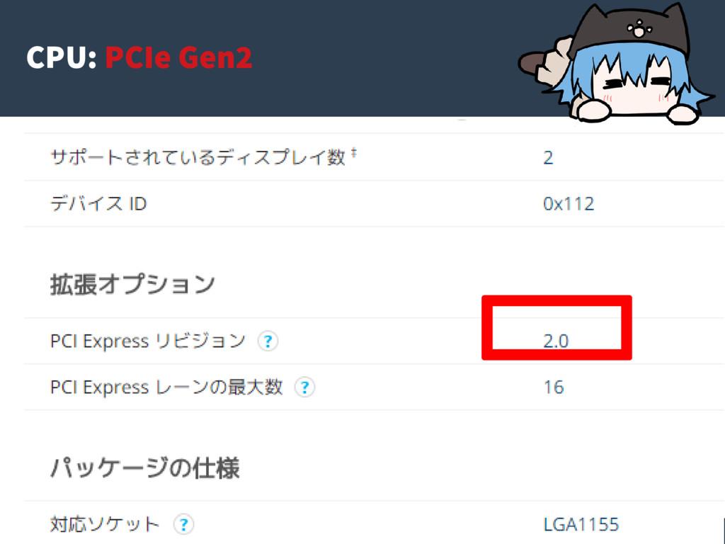 35 CPU: PCIe Gen2