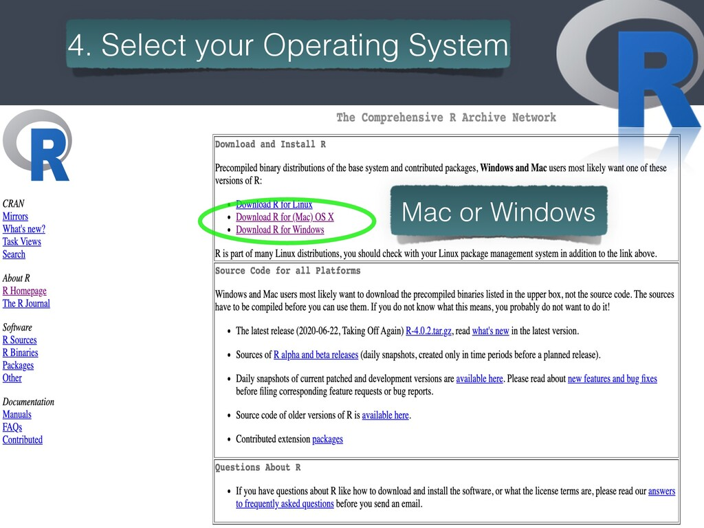 5 4. Select your Operating System Mac or Windows