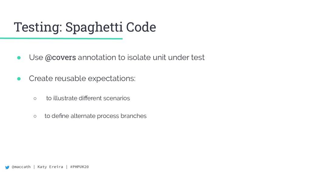 @maccath | Katy Ereira | #PHPUK20 Testing: Spag...