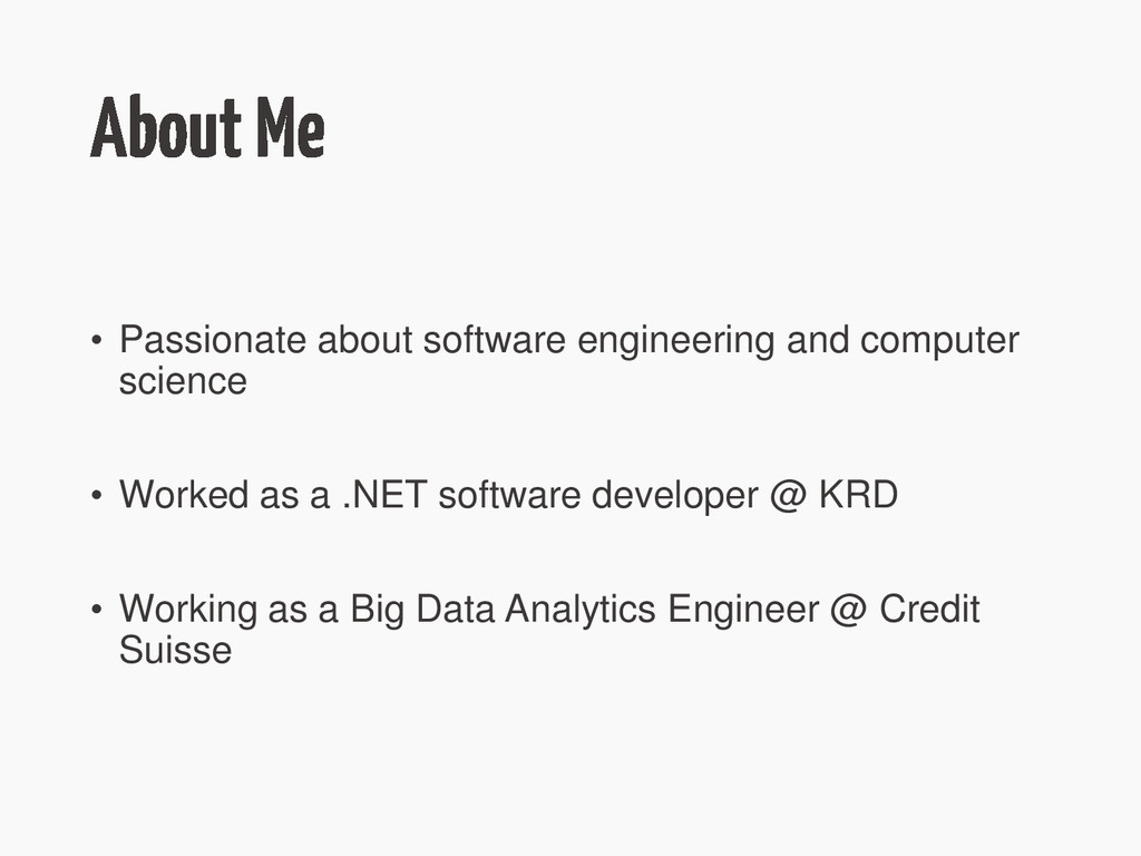 • Passionate about software engineering and com...