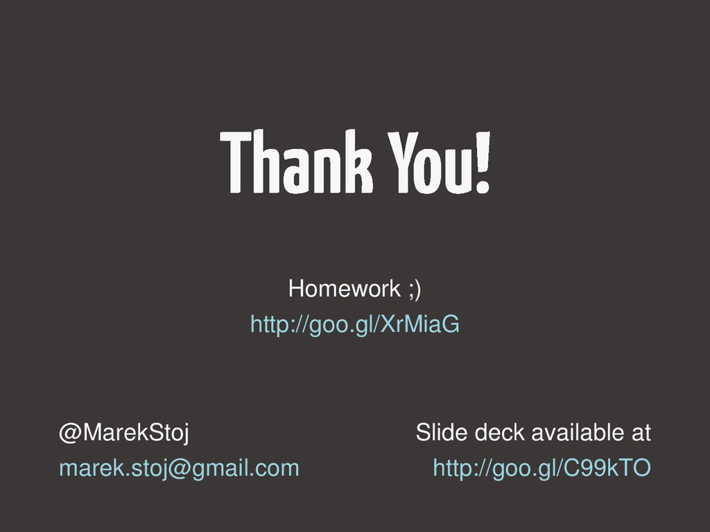 Slide deck available at http://goo.gl/C99kTO @M...