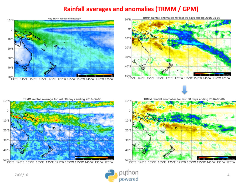 Rainfall averages and anomalies (TRMM / GPM) 7/...