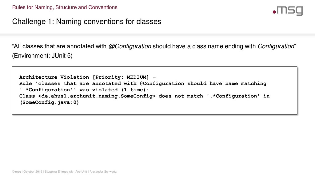 Rules for Naming, Structure and Conventions Cha...