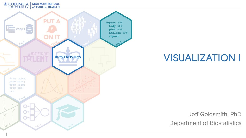 1 VISUALIZATION I Jeff Goldsmith, PhD Departmen...