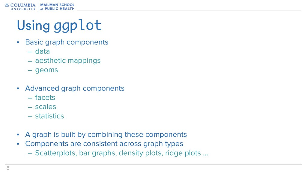 8 • Basic graph components – data – aesthetic m...