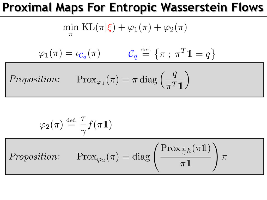 Proposition: Proximal Maps For Entropic Wassers...