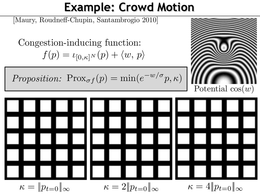 Proposition: Example: Crowd Motion Congestion-i...