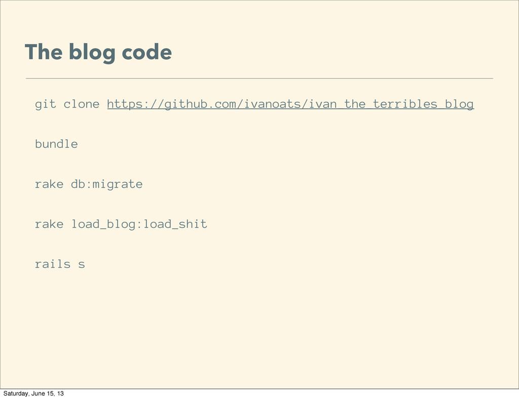 The blog code git clone https://github.com/ivan...
