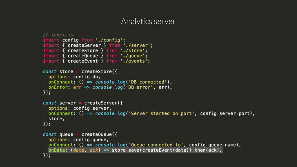 Analytics server