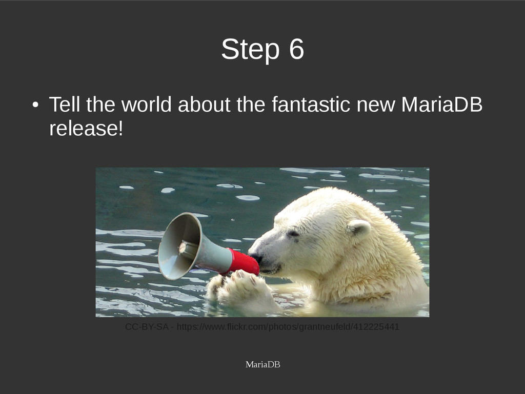 MariaDB Step 6 ● Tell the world about the fanta...