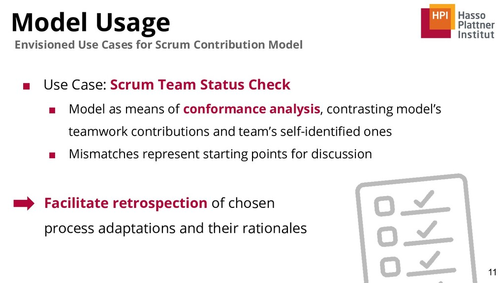 Model Usage 11 Envisioned Use Cases for Scrum C...