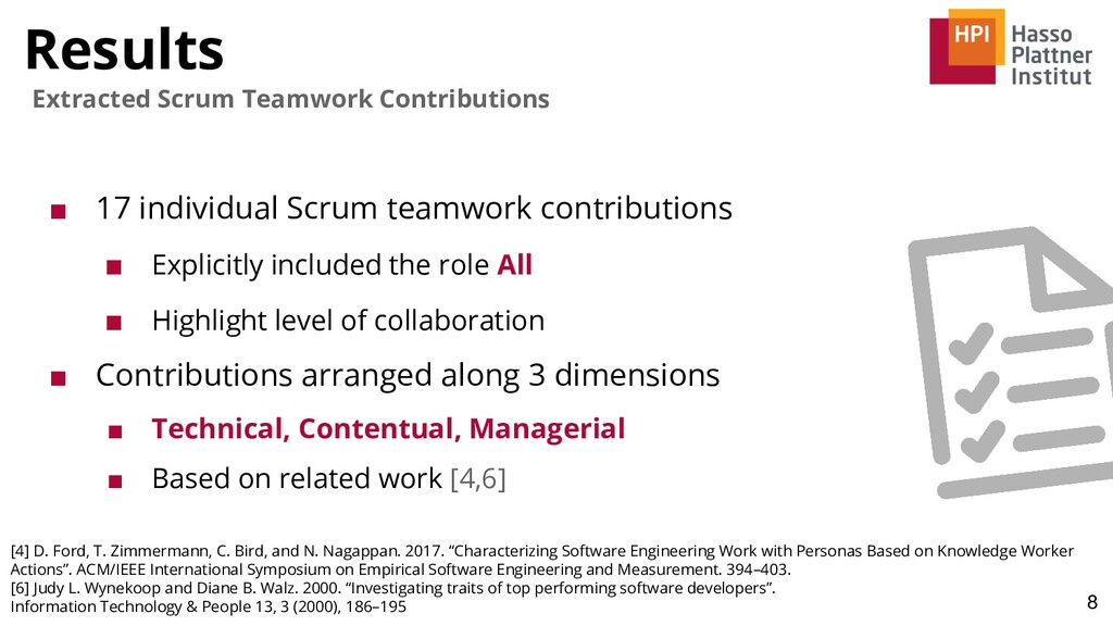 Results 8 Extracted Scrum Teamwork Contribution...