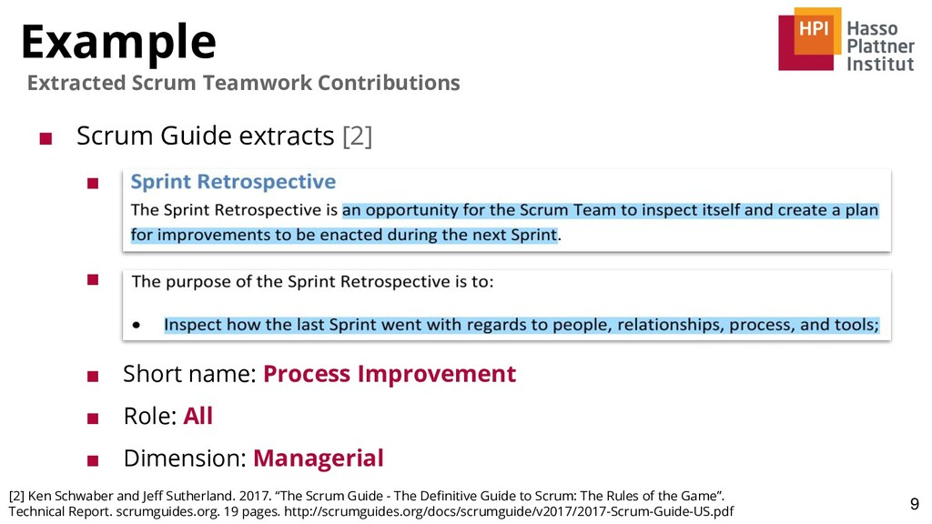 Example 9 Extracted Scrum Teamwork Contribution...