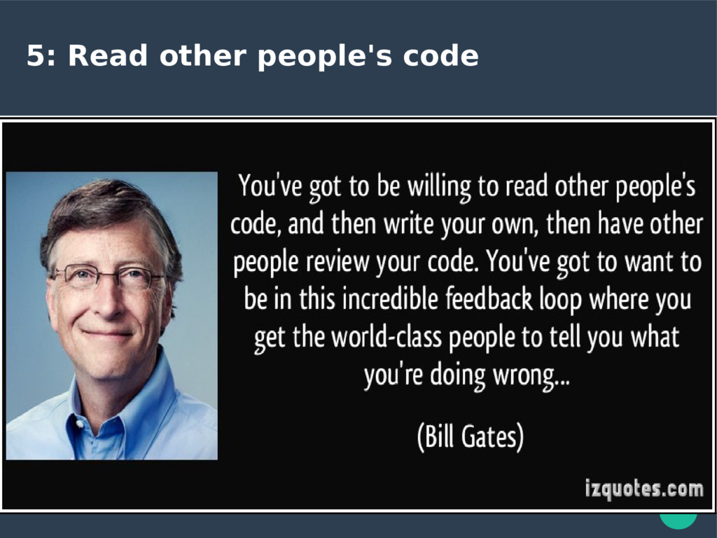 5: Read other people's code
