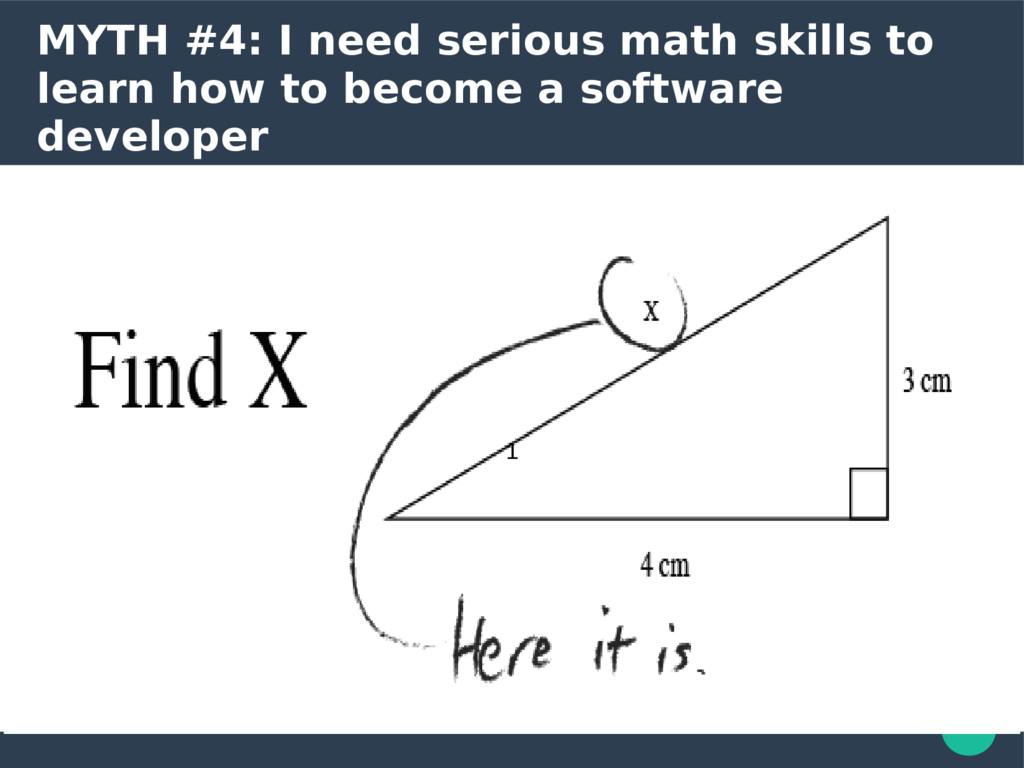 MYTH #4: I need serious math skills to learn ho...