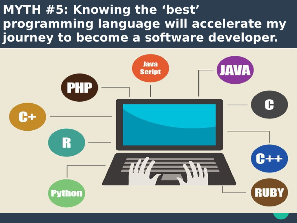 MYTH #5: Knowing the 'best' programming languag...