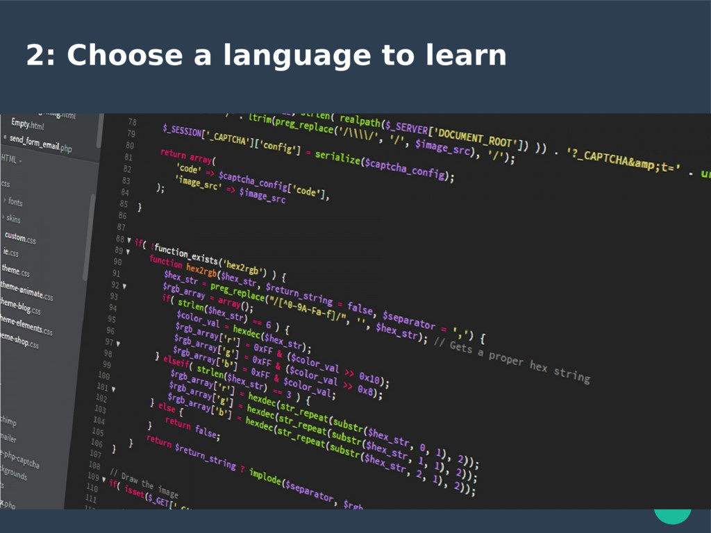 2: Choose a language to learn