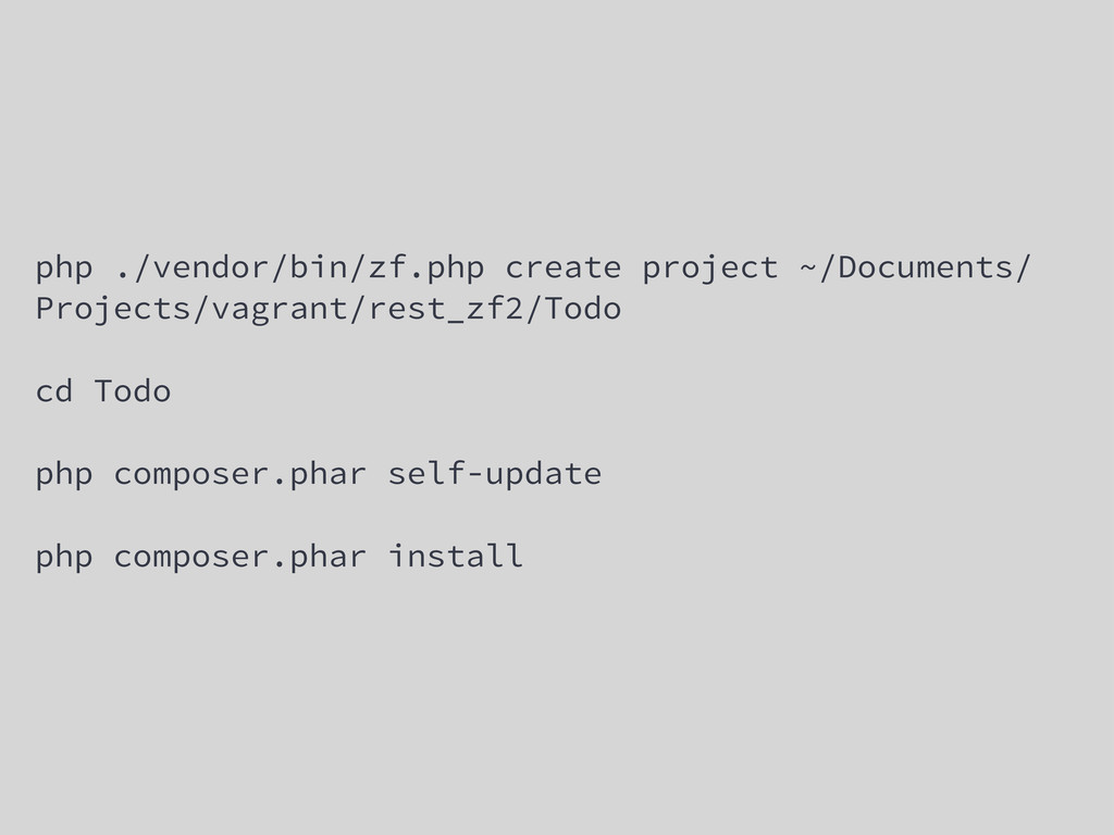php ./vendor/bin/zf.php create project ~/Docume...