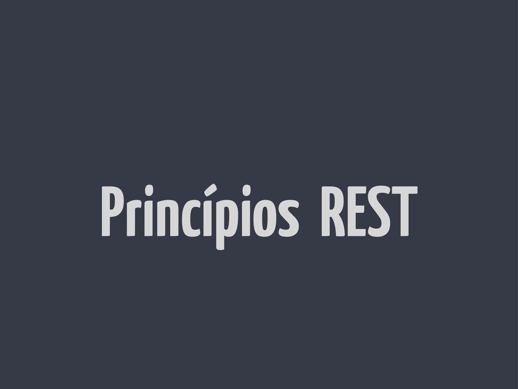 Princípios REST