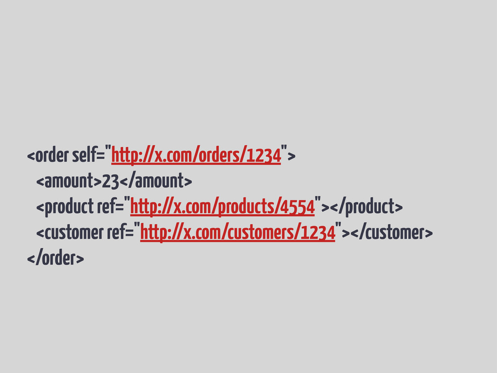 "<order self=""http://x.com/orders/1234""> <amount..."