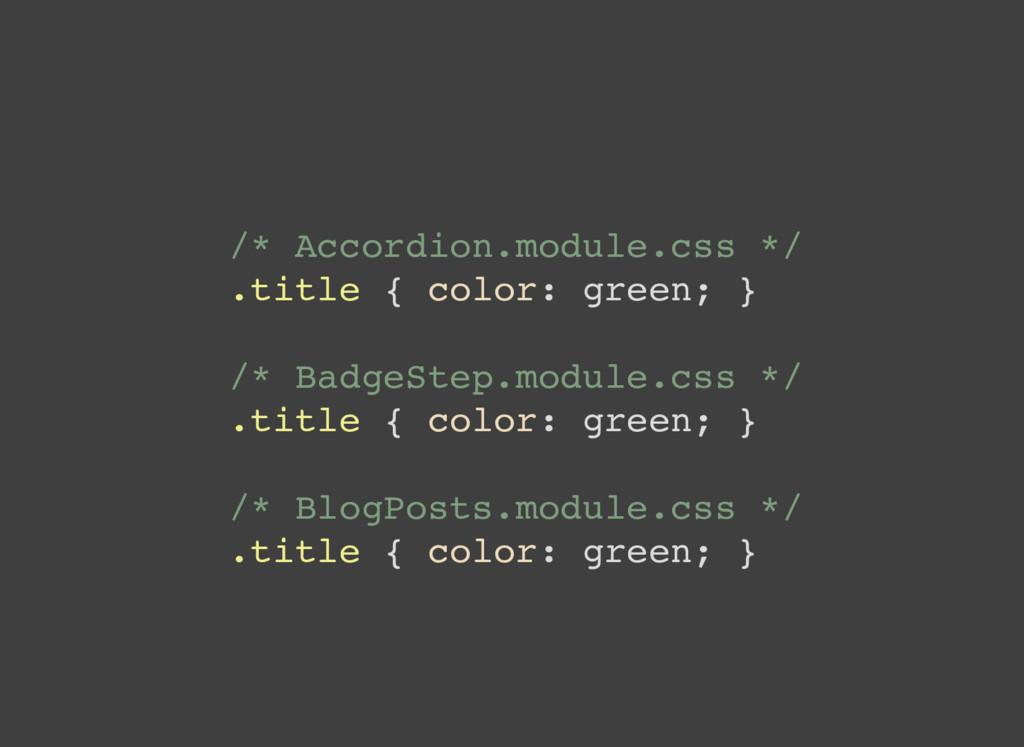 /* Accordion.module.css */ .title { color: gree...