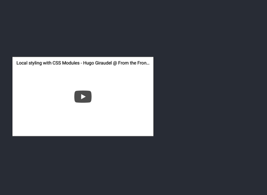 Local styling with CSS Modules - Hugo Giraudel ...