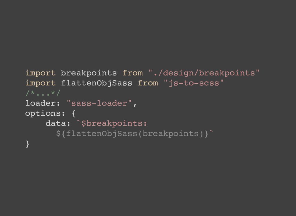"import breakpoints from ""./design/breakpoints"" ..."