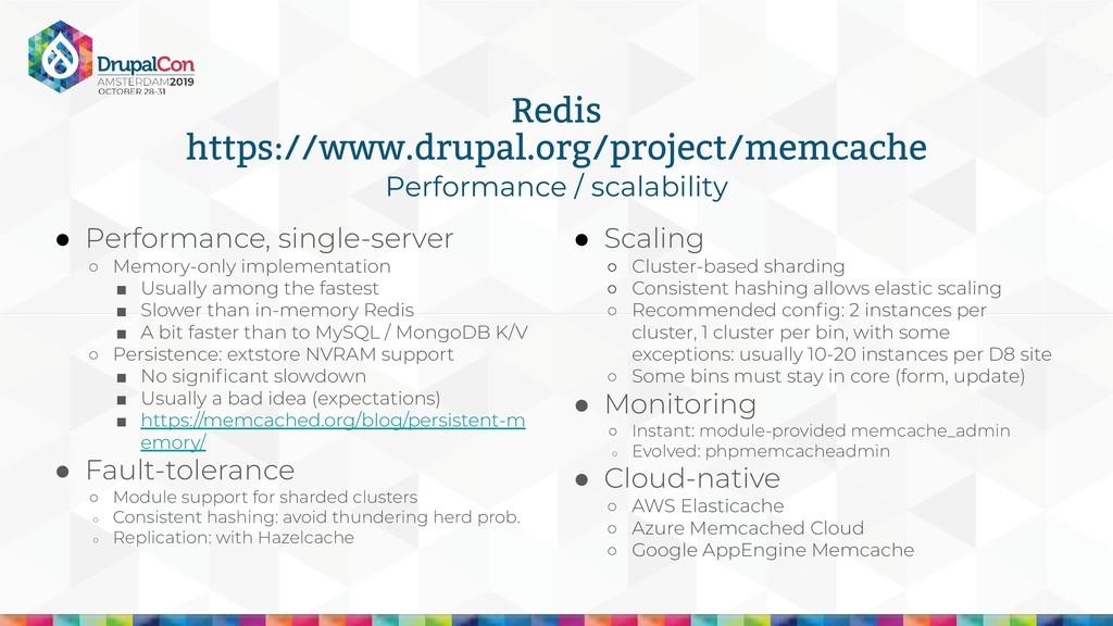 ● Performance, single-server ○ Memory-only impl...