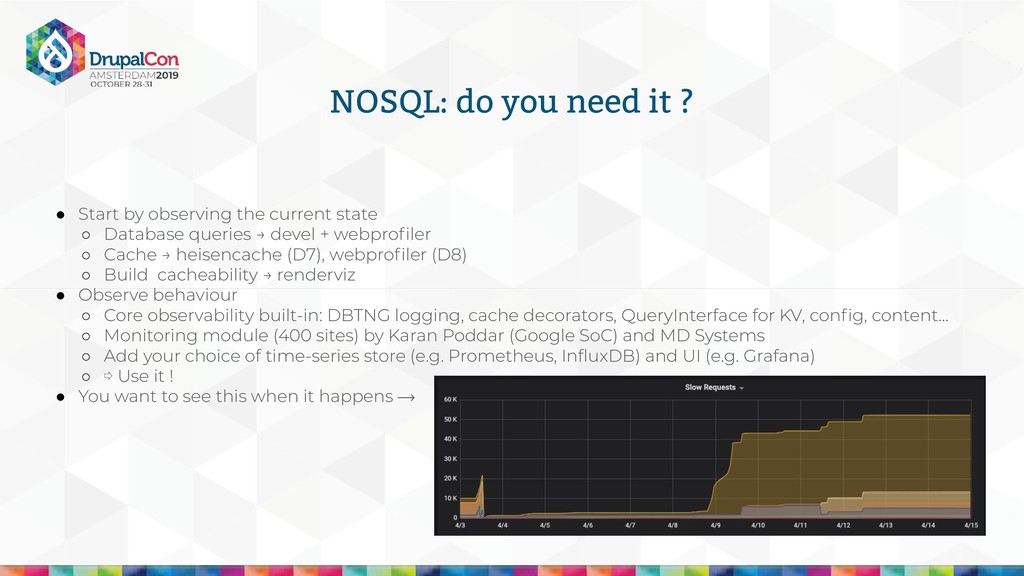 NOSQL: do you need it ? ● Start by observing th...