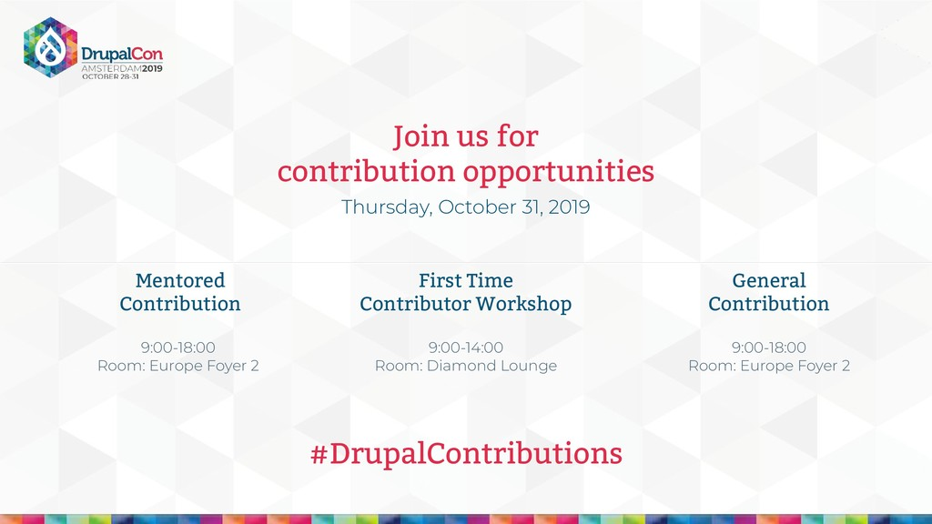 Join us for contribution opportunities Thursday...