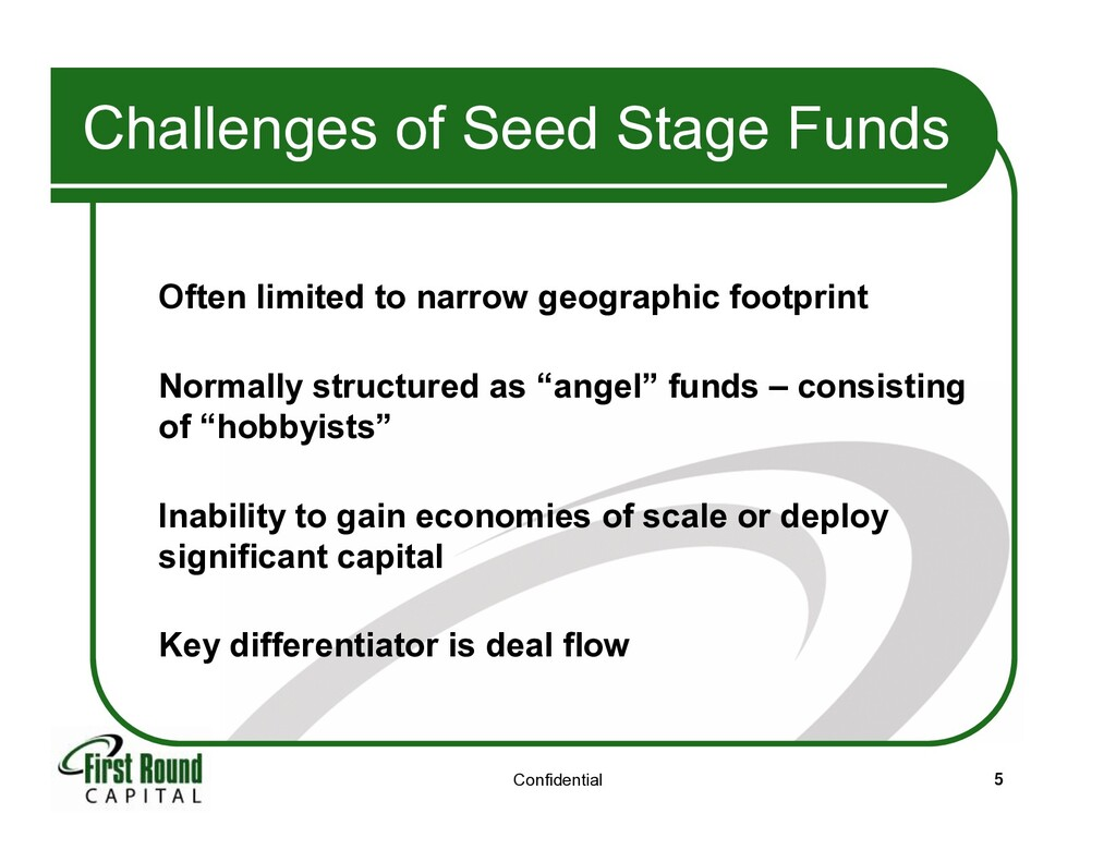 Confidential 5 Challenges of Seed Stage Funds O...